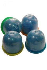 Бахилы в капсулах 28 мм (цельная резинка, синие)